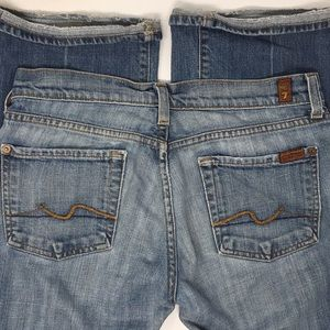 7 for all Mankind light weigh bootcut jeans